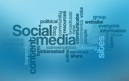 Nube social de la palabra de los media Fotos de archivo