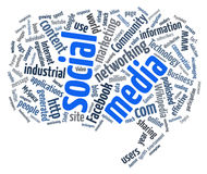 Nube social de la palabra de los media Imágenes de archivo libres de regalías