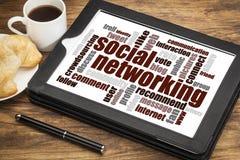 Nube social de la palabra del establecimiento de una red Fotografía de archivo