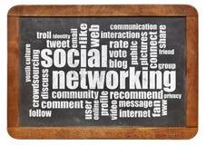 Nube social de la palabra del establecimiento de una red Foto de archivo