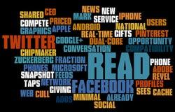 Nube sociale della modifica di media Immagini Stock