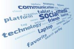 Nube sociale di media di vettore Fotografia Stock