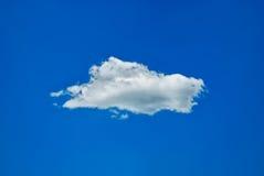 Nube sola Fotografia Stock Libera da Diritti