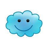 Nube sonriente stock de ilustración
