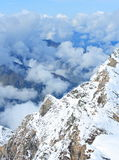 Nube sopra le alpi Immagine Stock Libera da Diritti