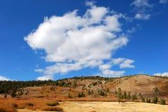 Nube sopra una montagna Fotografia Stock Libera da Diritti