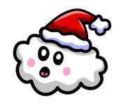 Nube sorprendida de la Navidad de la historieta ilustración del vector