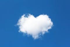 Nube sotto forma di cuore fotografia stock libera da diritti