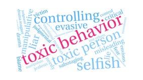 Nube tóxica de la palabra del comportamiento stock de ilustración