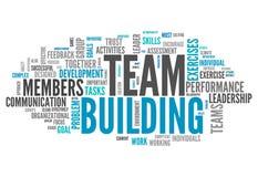 Nube Team Building de la palabra Fotografía de archivo libre de regalías