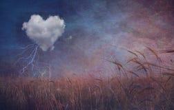 Nube y campo texturizados del corazón libre illustration