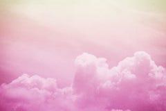 Nube y cielo suaves artísticos imagenes de archivo