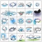 Nube y colección de la explosión libre illustration