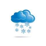 Nube y copos de nieve ilustración del vector