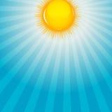 Nube y ejemplo soleado del vector del fondo libre illustration