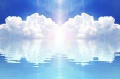 Nube y reflexión libre illustration