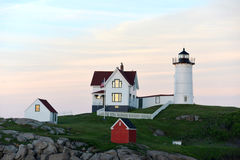 Nubel Lighthouse, Maine. Nubel Lighthouse is one of New England's most popular Maine marine tourist attractions Stock Images