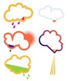 Nubes ilustración del vector