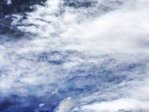 Nubes abstractas del azul Foto de archivo
