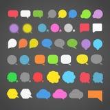 Nubes abstractas del discurso del color Imagen de archivo libre de regalías