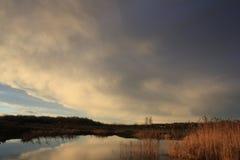 Nubes agradables Imágenes de archivo libres de regalías