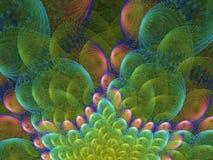 Nubes ahumadas del fractal colorido de la llama libre illustration