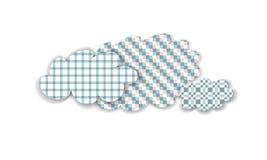 Nubes aisladas pastel a cuadros abstracto Imagen de archivo libre de regalías