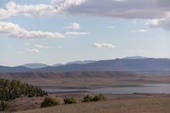 Nubes anaranjadas en el cielo de Argel Foto de archivo libre de regalías