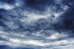 Nubes antes de la tormenta foto de archivo libre de regalías