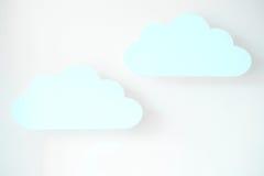 Nubes azules Imagen de archivo