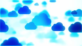 nubes azules móviles, vídeo 4K stock de ilustración