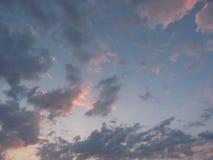 Nubes besadas por el sol Imágenes de archivo libres de regalías