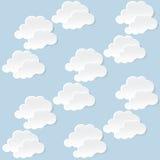 Nubes blancas Imagenes de archivo
