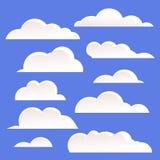 Nubes blancas Imágenes de archivo libres de regalías