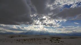 Nubes blancas de las arenas Fotografía de archivo libre de regalías