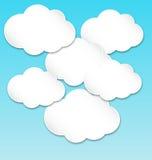 Nubes blancas de papel Foto de archivo libre de regalías