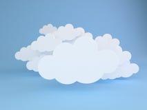 Nubes blancas sobre azul Fotografía de archivo libre de regalías