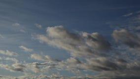 Nubes blanquecinas flotando en el cielo almacen de video