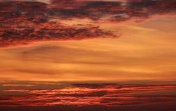 Nubes candentes Imagen de archivo libre de regalías