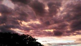 Nubes carmesís Foto de archivo