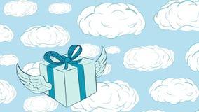 Nubes coas alas del regalo y del sueño libre illustration