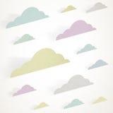 Nubes coloreadas Foto de archivo libre de regalías