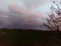 Nubes coloreadas Fotos de archivo libres de regalías