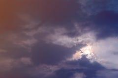 Nubes coloridas Foto de archivo libre de regalías