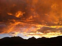 Nubes coloridas de Colorado Fotografía de archivo libre de regalías
