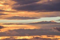 Nubes coloridas del fondo de la naturaleza Foto de archivo