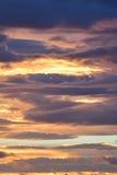 Nubes coloridas del fondo de la naturaleza Fotos de archivo