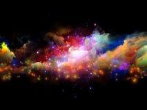 Nubes coloridas del fractal Foto de archivo libre de regalías