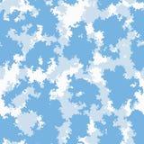 Nubes coloridas fondo, modelo inconsútil del papel pintado del cuarto de niños, vector del sitio lindo del bebé Stock de ilustración