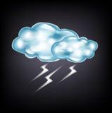 Nubes con el relámpago en oscuridad libre illustration